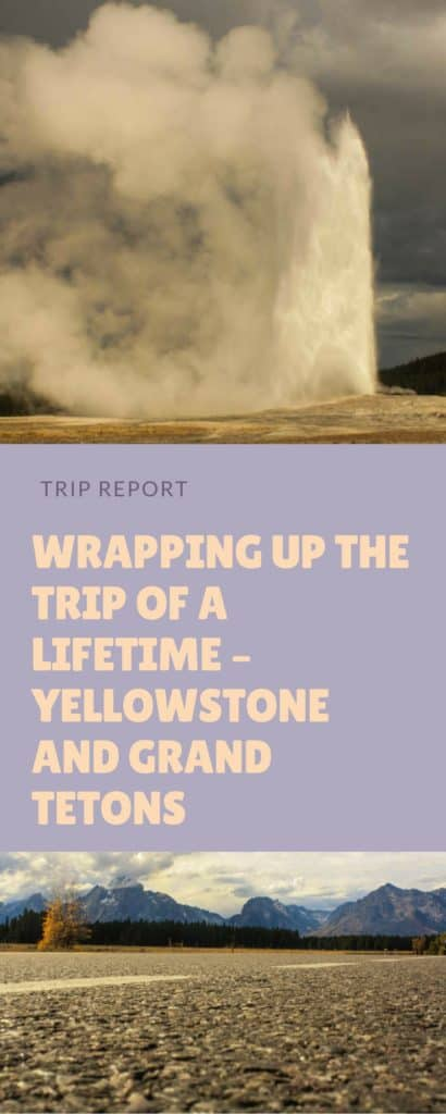 Read Plaid Shirt Yoga Pants trip to Yellowstone and Grand Tetons National Parks. Including seeing Old Faithful, a Black Bear, & Mammoth Hot Springs.