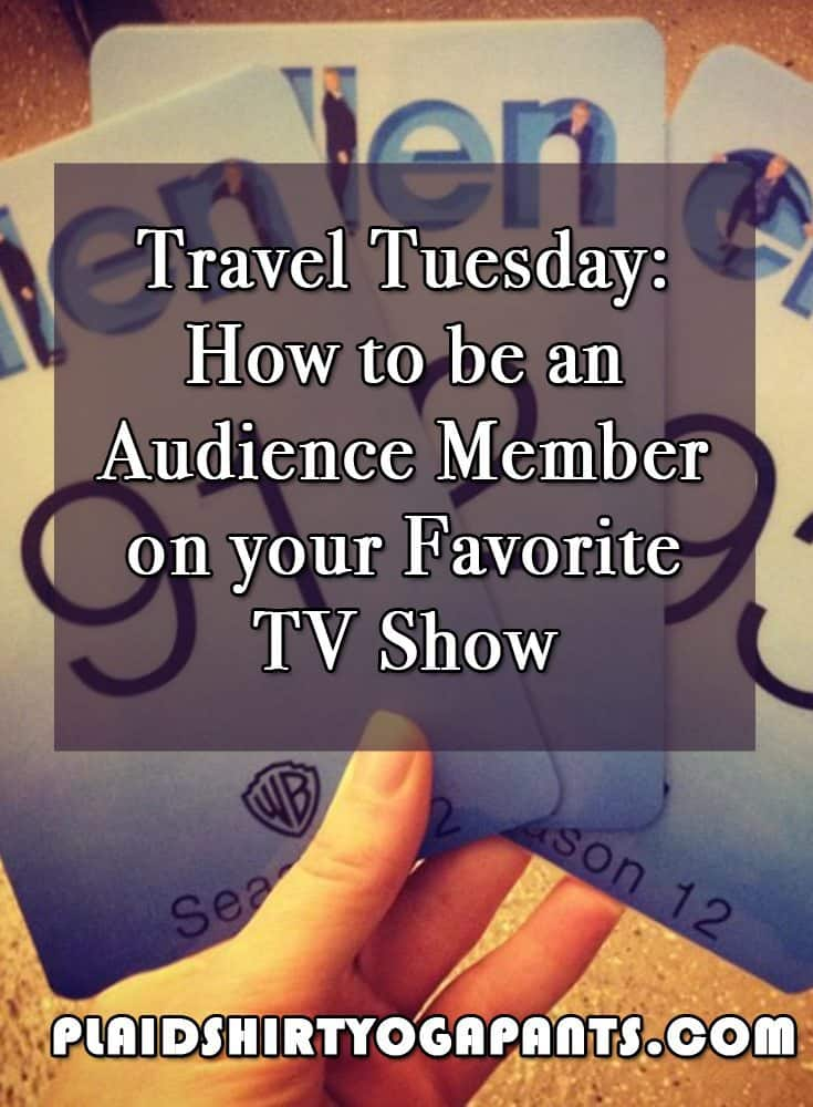 #Traveltuesday How to be an Audience Member on your Favorite TV Show #plaidshirt