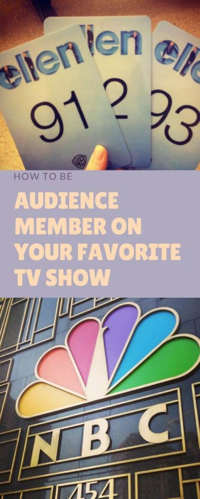 Pinnable image for How to be an Audience Member on your Favorite TV show