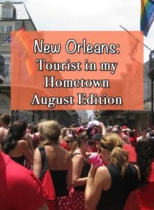 Being a tourist in your town is one of the best things you can do if you cannot get away on a trip or a vacation. The month of August is always hot and steamy, and organizations will do everything and anything to get us out of our air conditioning and into the streets celebrating.