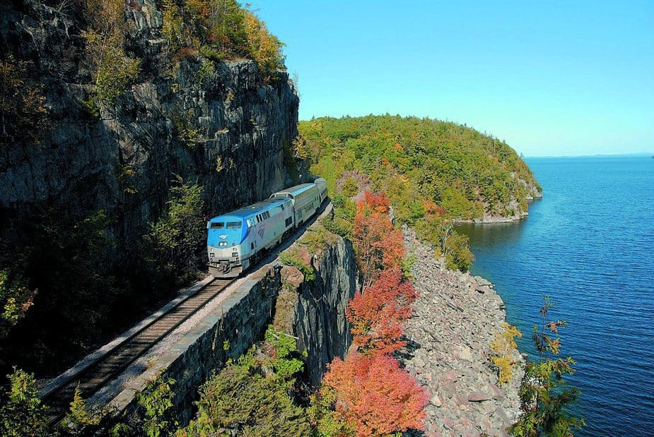 Planning a trip to see fall leaves is a vacation everyone should take. Amtrack's Adirondack from New York to Montreal is the perfect way to see fall.