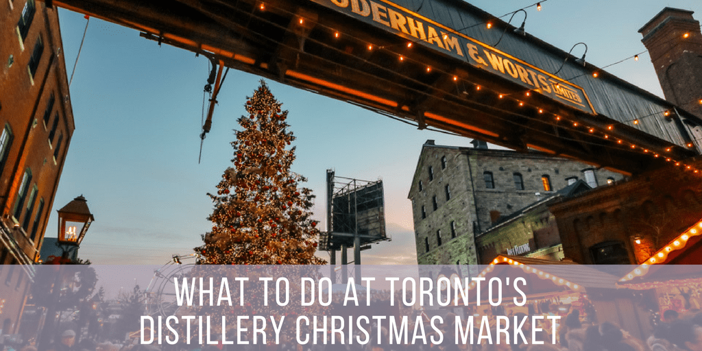 Distillery District Christmas Market In Toronto Plaid