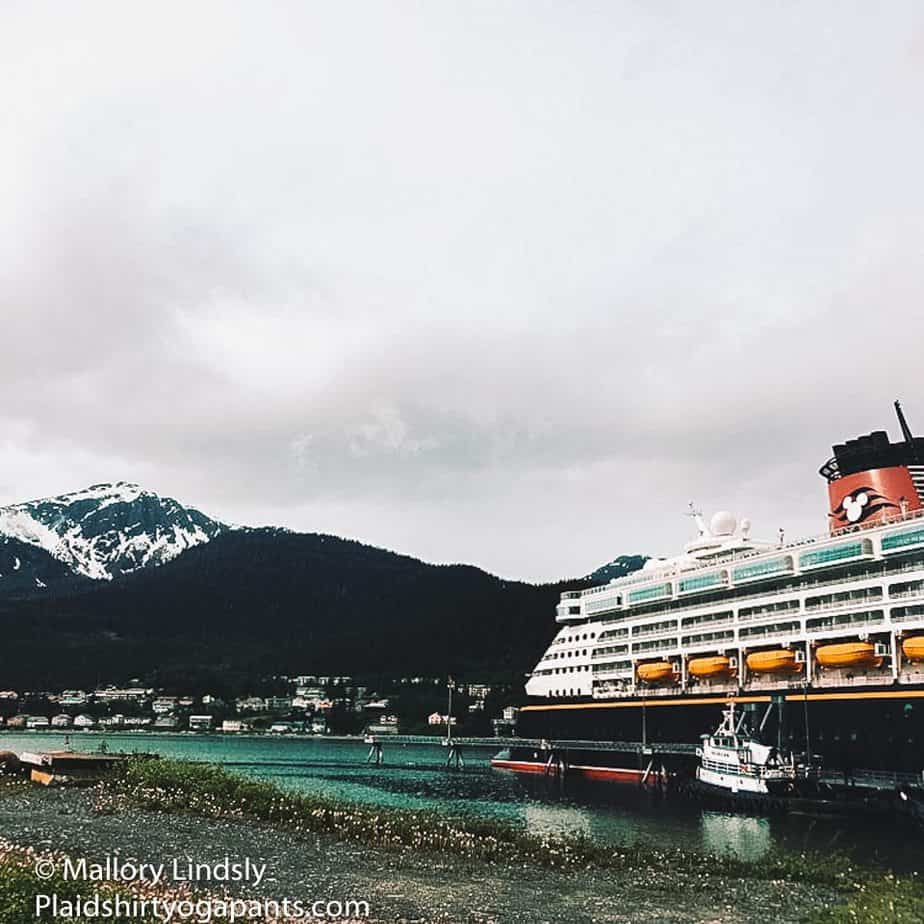 The Disney Wonder docked right before Mallory Lindsly and her family went on an excursion.