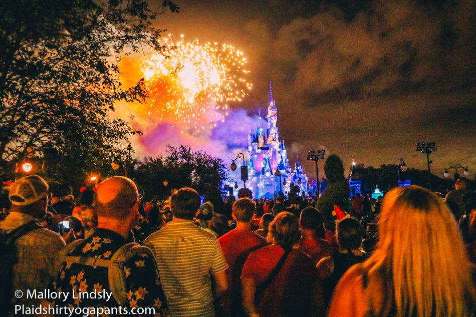 Fireworks during Mickey's Very Merry Christmas Party